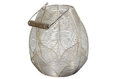 Silver Wire Palm Basket on OneKingsLane.com