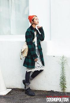 Kang Soyoung by Park Seong Young for Cosmopolitan Korea Sept 2013
