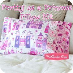 Pillow Case princess fabric cute!