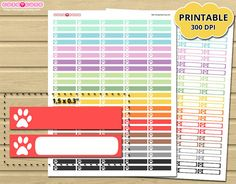 Pet Tracker Header dont run out of stickers with Printable Planner Stickers for Erin Condren - Mambi happy planner - Filofax - small box