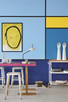 Tendência Ideológico - A cor do ano da Suvinil e as tendências de cores 2018 Desk, Furniture, Home Decor, Blog, Color Trends, Painted Wall Murals, Color Of The Year, Interior Decorating, Environment