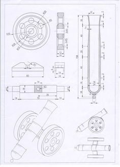 Autocad, Mechanical Engineering Design, Mechanical Design, Isometric Drawing Exercises, Metal Lathe Projects, Solidworks Tutorial, Hand Cannon, Fusion Design, Object Drawing
