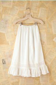 Vintage Cotton Eyelet Midi Skirt