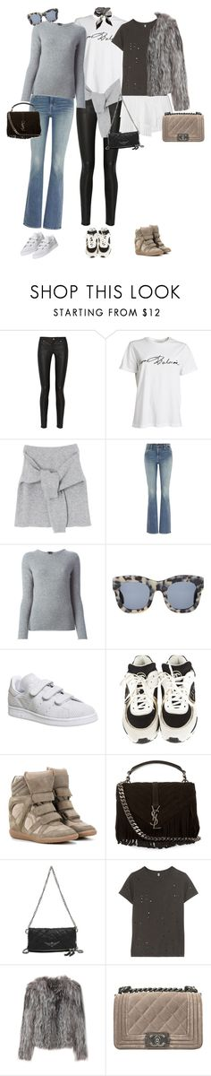 """Untitled #31"" by maya-isako ❤ liked on Polyvore featuring Acne Studios, Levi's, Theory, Illesteva, adidas, Chanel, Isabel Marant, Yves Saint Laurent, CÉLINE and Zadig & Voltaire"
