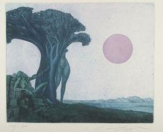 Ernst Fuchs  2 Bll.: Delila mit dem Dragon - Gespräch mit der Schlange