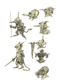 Knightlings by eoghankerrigan on DeviantArt Character Design Animation, Fantasy Character Design, Character Design References, Character Design Inspiration, Character Concept, Character Art, Concept Art, Fantasy Armor, Medieval Fantasy