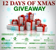12 Days of Xmas Beauty #Sweepstakes Ends 12/24.