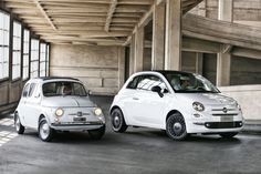 Classic and new Fiat 500 (2016) #cars2016 #fiat500