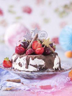 Nutella-jäätelökakku