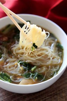 Asian Chicken Noodle Soup | Recipes Worth Repeating | http://recipesworthrepeating.com/recipes/gluten-free/asian-chicken-noodle-soup/