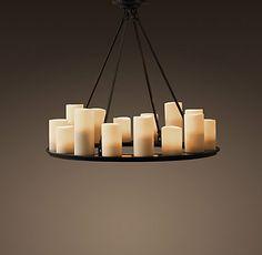 Ceiling   Restoration Hardware hang from pergola above hot tub!