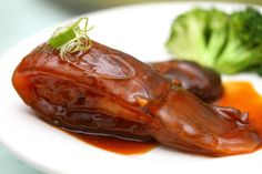 Crocodile tail in red braising sauce