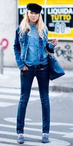 Blogger Zhanna Romashka wearing the Gucci 1953 Horsebit Loafer