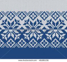 Winter Sweater Design. Fairisle Seamless Knitting Pattern