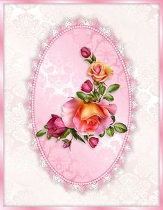 "Craft Wyse: ~ ""Pop-Out Card Front"" ~ Roses by Barnali Bagchi.: Craft Wyse: ~ ""Pop-Out Card Front"" ~ Roses by Barnali Bagchi. Romantic Roses, Elegant Flowers, Flower Backgrounds, Wallpaper Backgrounds, Wallpapers, Ceramic Painting, Painting On Wood, Boarders And Frames, Printable Frames"