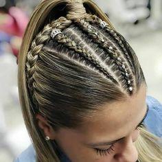- Little black girl hairstyles Braided Ponytail Hairstyles, Easy Hairstyles For Long Hair, Curly Hair Tips, Braids For Long Hair, Girl Hairstyles, Curly Hair Styles, Hair Upstyles, Scene Hair, Hair Videos