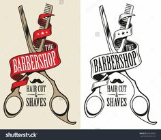 logotype for barbershop. Vector