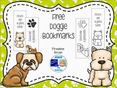 FREE Doggie Bookmarks  Your students will be fetching their books to use these adorable bookmarks. These cuties come in both color and black and white for your kiddos to color themselves.  Just click HERE to download this freebie. I'd love to hear what you think.  3-5 A Teacher's Bag of Tricks Bookmarks dogs K-2 The Book Bug