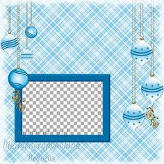 """Layout QP 17B.....Quick Page, Blue, Digital Scrapbooking, Christmas Time Collection, 12"""" x 12"""", 300 dpi, PNG File Format"""