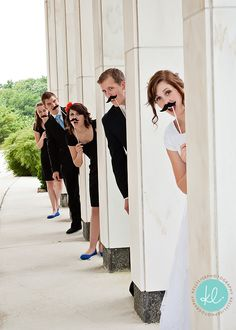 well, i like the concept...but i'd do this more with a bride & groom..the bride hiding a column behind the groom before he has seen her... cute idea haha