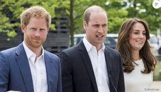 Kate Middleton, le prince William et le prince Harry faisaient équipe pour le lancement de leur campagne Heads Together de sensibilisation sur la santé mentale le 16 mai 2016 au parc olympique Elizabeth à Londres.
