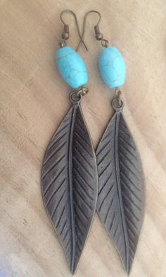 Bohemian Ohrhänger Feather Bohemian von FKBMartandaccessoire