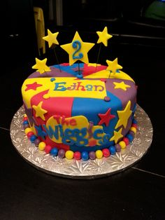 the wiggles cake Wiggles Birthday, Wiggles Party, Wiggles Cake, The Wiggles, Twin Birthday Cakes, Homemade Birthday Cakes, Harry Birthday, 2nd Birthday, Birthday Ideas
