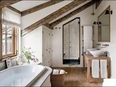 Attic Bathroom, Small Bathroom, Master Bathroom, Neutral Bathroom, Master Baths, Guest Bathrooms, Bedroom Small, Chic Bathrooms, Washroom