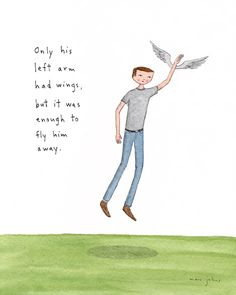 Marc Johns: only his left arm had wings Happy Thoughts, Deep Thoughts, Marc Johns, Catchy Phrases, Little Doodles, Bestest Friend, Lyric Art, How I Feel, Mixtape