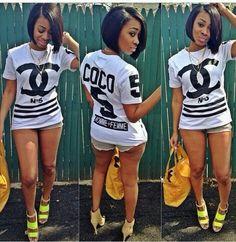 Chanel tshirt! ♥fire