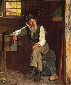 Yes - he has a pipe in his hand... how do you think the best thinking is done?    -    John George Brown (1831 – 1913) Living in the Past
