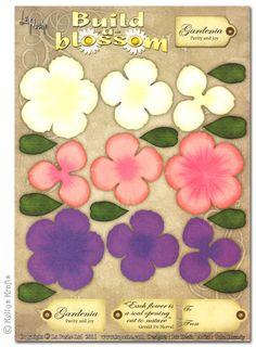 Decoupage A4 Sheet - Build A Blossom, Gardenia - £0.49 : Card Making + Scrapbooking Craft Supplies