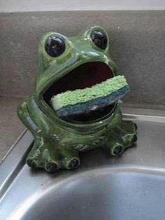 A Soap Frog...my grandmother had one