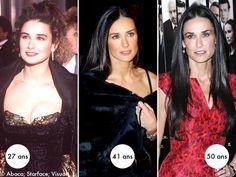 Demi Moore Hair, Demi Moore Striptease, Demi More, Jolene Blalock, 1980s Childhood, Beautiful People, Beautiful Women, Long Dark Hair, Portraits