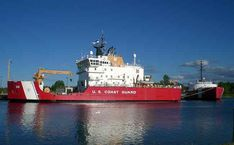 The Coast Guard Cutter Mackinaw is one of the new class of bout tenders. While most tenders are painted black the Mack is painted red. The pride of Cheboygan Michigan.