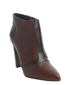 Rebecca Minkoff mahogany leather zip detail 'Dalli' ankle boots