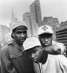 """A Tribe Called Quest """". One of Hip Hops most legendary, beloved and revered groups of all time. Easily recognized for their unique approach to Hip Hop music by employing jazz infused soundscapes to Afro centric rhymes, A Tribe Called Quest was largely r Mode Hip Hop, 90s Hip Hop, Hip Hop Rap, Love N Hip Hop, Hip Hop And R&b, Rap Music, Good Music, Jamel Shabazz, African Americans"""