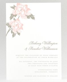 Romantic Garden Wedding Invitation
