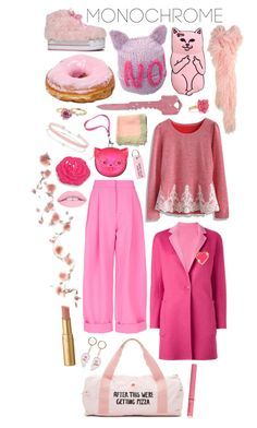 Modochrome pink by perpetto on Polyvore featuring moda, Chicwish, MaxMara, Natasha Zinko, ban.do, Miss Selfridge, Patchington, Marc by Marc Jacobs, Stoney Clover Lane and New Look
