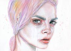 Watercolor painting - Cara by Tomasz-Mro.deviantart.com on @DeviantArt #tomaszmro #tomaszmrozkiewicz #mrozkiewicz
