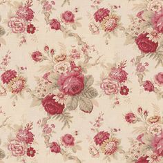 Wallpaper+-+Roses+in+Bloom+2+Antique+Red+Large+Floral+NO+BORDER+[WAL0138B_NB]+-+$0.00+:+itsy+bitsy+mini,+Wholesale+