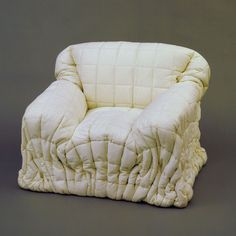 Gaetano Pesce Sitdown Lowback Armchair 1975 Quilted dacron fabric and polyurethane Plywood Furniture, Art Furniture, Furniture Design, Interior Architecture, Interior And Exterior, Interior Design, Sofa Chair, Armchair, Couch