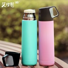 500ML Thermos Cup Stainless Steel Insulated Mug Vacuum Flask Thermal Cups Thermos Coffee Cup With Handle Sport Bottle Thermo Mug