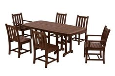 POLYWOOD PWS1331MA Traditional Garden 7Piece Dining Set Mahogany * More info could be found at the image url.Note:It is affiliate link to Amazon. #girls