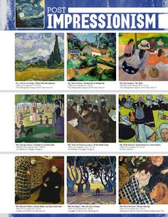 The smARTteacher Resource: POST-IMPRESSIONISM (Movement Binder Notes) als voorlopers van het Modernisme belangrijk.