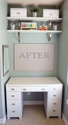 Small space closet office