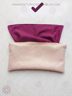 Costura fácil: Cartuchera en 20 minutos.   Nocturno Design Blog Design Blog, How To Make Handbags, Learn To Sew, Sewing Hacks, Sewing Patterns, Pouch, Quilts, Handmade, Handbag Making