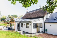 Listed Cottage Extension in Thorverton, Exeter – Living Space Architects: Award-winning RIBA Architects based in Exeter, Devon Cottage Extension, Thatched House, Listed Building, House Extensions, Exeter, Metal Roof, Future House, Living Spaces
