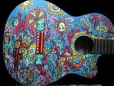 Art Designs On Guitars | Guitar art | Wallpapers World