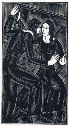Eric Gill ~ Artist and the Mirror, 1932